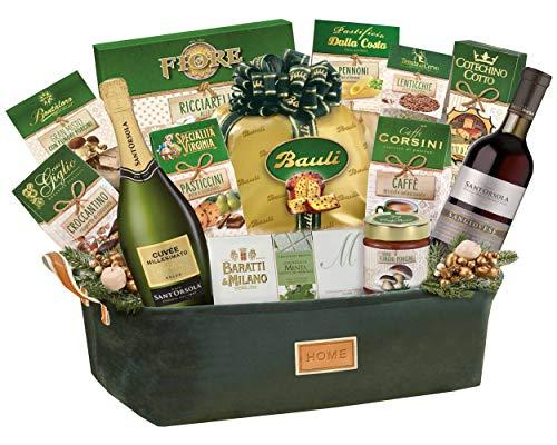 "Cesto Natalizio Le Cadeau ""Verde Smeraldo"" 14 Pezzi"