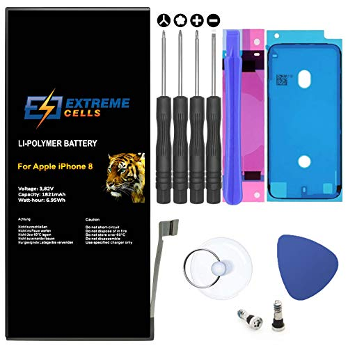Extremecells Akku für iPhone 8 + Werkzeug Tool Set Kit Batterie Accu 1821 mAh