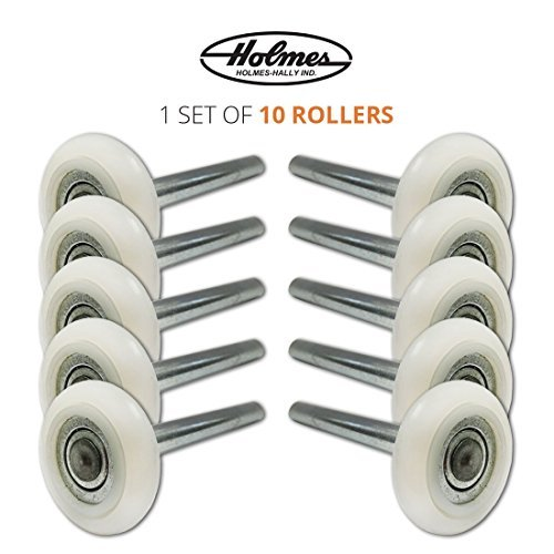 Ultra-Quiet 2 Nylon Garage Door Roller with 13-Ball Bearing & 4 Stem (10 Pack) by Holmes-Hally Industries