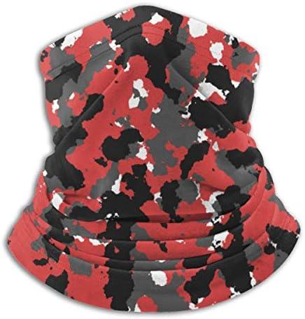 Women Men Kids Thick Thermal Adjustable Bloodshot Camo Red Urban Neck Gaiter Tube Ear Warmer product image