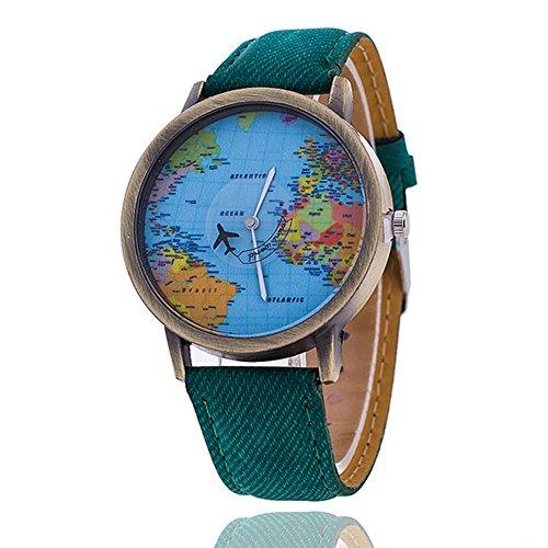 Weltkarte Armbanduhr relogio Nacional Fashion Frauen Armbanduhr Casual Luxus Jeans Quarz Uhren Hot Verkauf