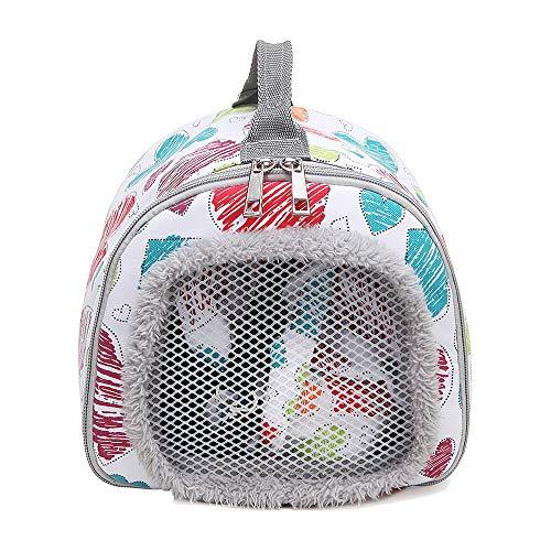Decdeal Hamster Tragetasche Kleintier Handtasche mit Atmungsaktivem Netzfenster für Eichhörnchen Kaninchen Meerschweinchen