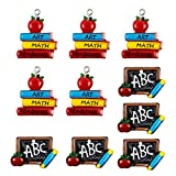 AUEAR, 10 Pack School Best Teacher or Student Charms for DIY Jewelry Making and Bracelets