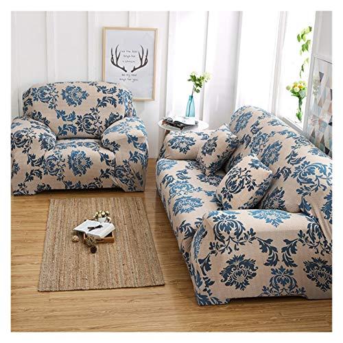 Estiramiento Fundas Sofá Cover for la sala de deslizamiento resistente elástico seccional sofá cubierta sofá toalla individual / dos / tres / cuatro asientos ( Color : G , Size : 1 seat fit 90 140CM )