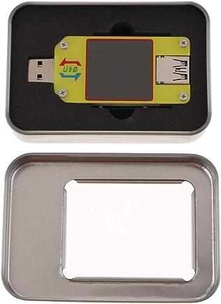 Jolicobo Multim/ètre num/érique USB testeur 3.2-10V 3A Courant et Tension dalimentation Moniteur Double voltm/ètre Amp/èrem/ètre Affichage Couleur Amp D/étecteur de pr/écision