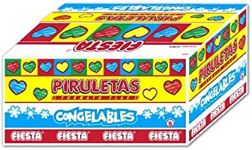 Fiesta Piruleta Flax Cereza Polo para Congelar 70 ml [Pack 10 ud]