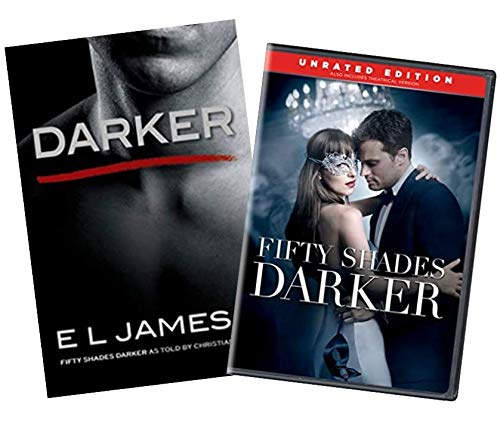 Fifty Shades of Grey Book & DVD Collection: Darker: Fifty Shades Darker as Told by Christian (E L James, Paperback) / Fifty Shades Darker (DVD, Unrated Edition)