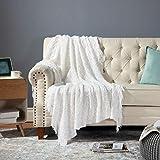 Bedsure 100% Acrylic Knit Throw Blanket, 50×60 Inch - Soft Warm Cozy...