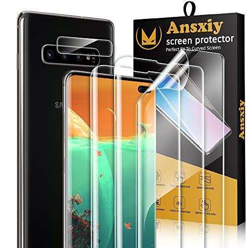 [3 Stück] Schutzfolie Kompatibel Mit Samsung Galaxy S10 Plus +Kamera Panzerglas [1 Stück], Samsung Galaxy S10 Plus Folie Blasenfrei, Hohe Empfindlichkeit, HD-Bildschirmschutzfolie für Galaxy S10 Plus