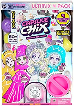 4-Pack Capsule Chix Ultimix 4.5 Inch Small Doll