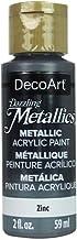 Deco Art Dazzling Metallics Acryl Verf 2oz-Zinc, Overige, Multi kleuren, 3.37x3.37x9.98 cm
