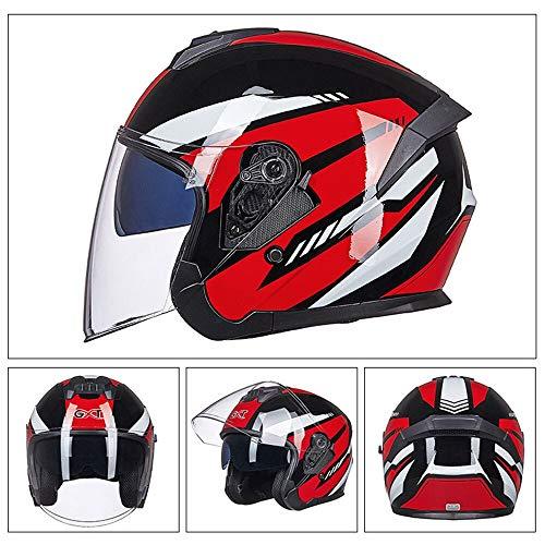 Motorrad Helm Männer Moto Helm Half Face Scooter Gesicht Biker Motorrad Reithelm Doppellinse Für Männer Frauen
