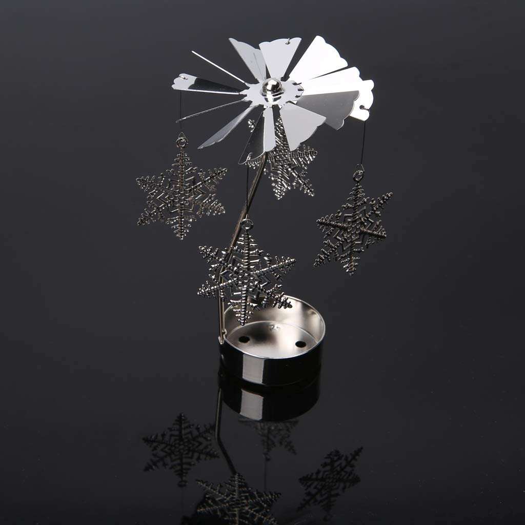 Portacandela scaldavivande girevole in metallo per la casa come regalo Metallo matrimoni ECMQS Amour ideale per Natale