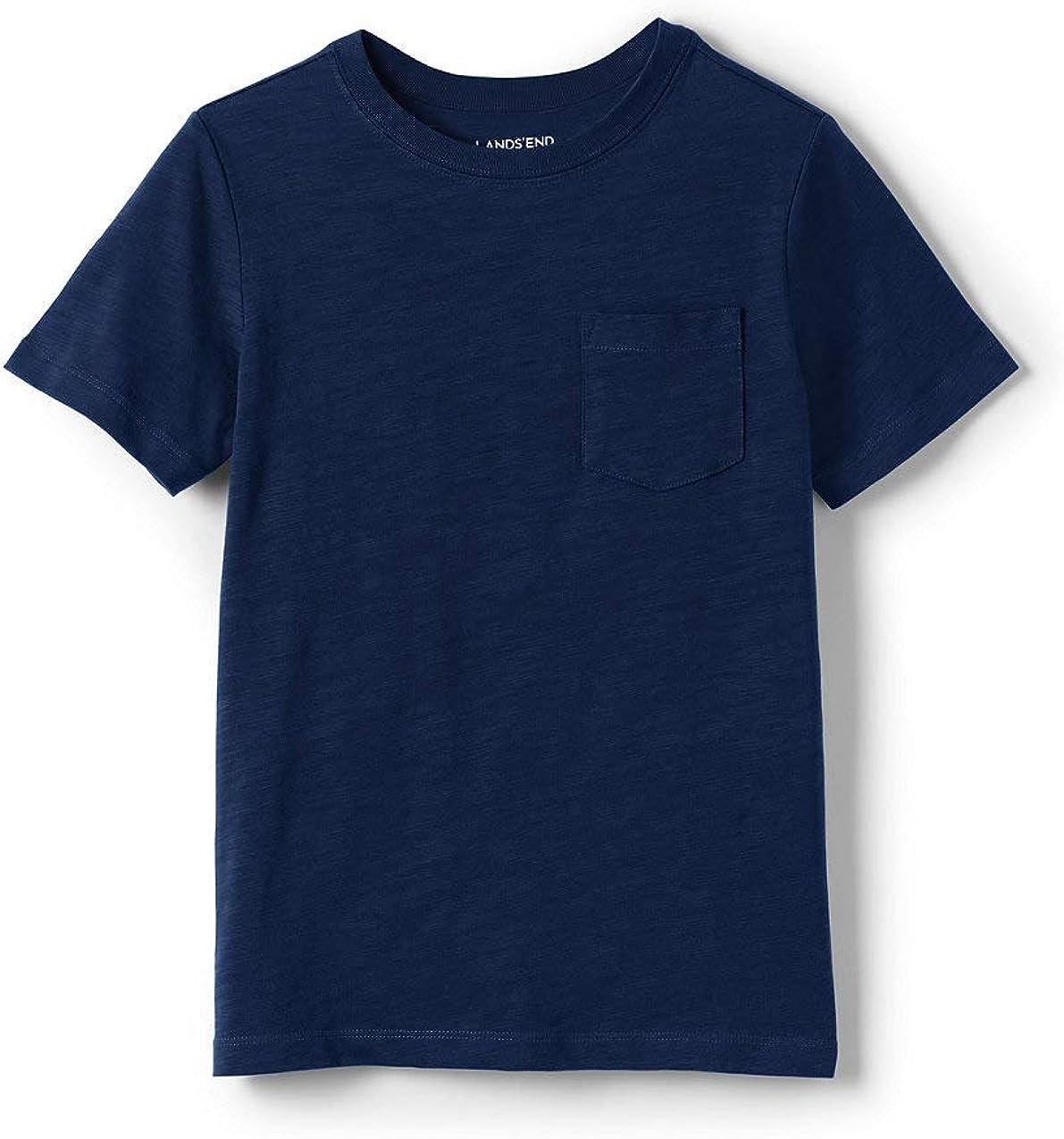 Lands' End Boys Solid Slub T Shirt