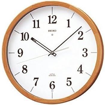 SEIKO CLOCK(セイコークロック) 電波掛け時計 ツイン・パ スイープ 木枠 ブラウン KS295A