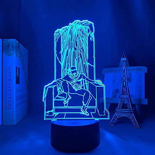 Lámpara de ilusión LED 3D luz nocturna Usb Anime Aquila Isl Tasso líder dormitorio decorado mesa de cumpleaños para niños Akira Isl Tezo-Remote Control