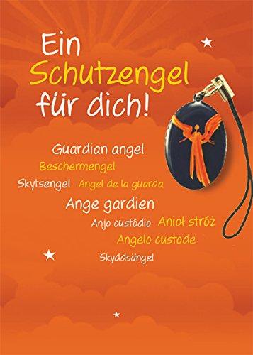 Kleiner Schutzengel Anhänger - Ein Schutzengel für Dich! - Taschenanhänger, Metall: 2,8 x 2 cm Kärtchen: 11,5 x 8 cm