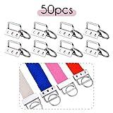 iSuperb 50 Pieces Key Fob Hardware Key Chain Wristlet Sets Matériel de Porte-Clés pour Fabrication de Porte-Clés Sangle de Sac (50 Pieces)