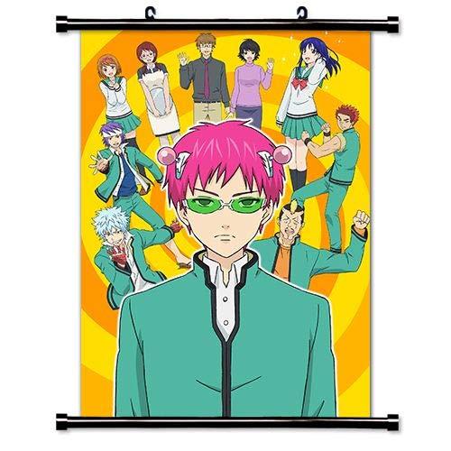 ROUNDMEUP Saiki k Anime Fabric Wall Scroll Poster (16x22) Inches