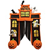 Sheerlund Products 10 Ft. Inflatable Outdoor Haunted House Archway Halloween Decoration/Prop with 22 LED Lights, 10'