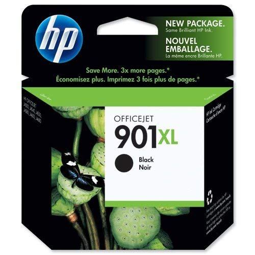 HP 901XL CC654AE Cartuccia Originale per Stampanti a Getto di Inchiostro, Compatibile con Officejet All-in-One 4500, J4580 e J4680, Importato dalla Germania, Nero