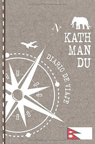 Kathmandu Diario de Viaje: Libro de Registro de Viajes - Cuaderno de Recuerdos de Actividades en Vacaciones para Escribir, Dibujar - Cuadrícula de Puntos, Bucket List, Dotted Notebook Journal A5