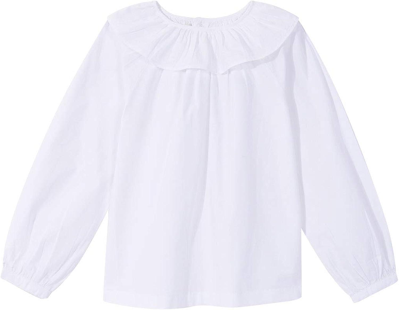 Gocco Blusa Cuello Volante Blanca Blouse para Niñas ...