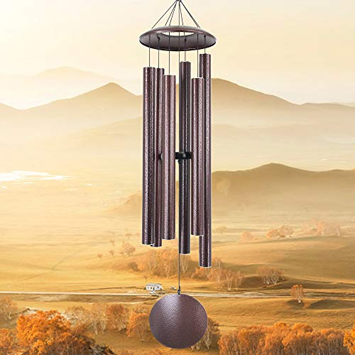 sinfinate Wind Chime Outdoor Large Deep Tone,45-Inch Remembrance Windchimes Unique Outdoor Tuned Bass Low Tone,Memorial Wind Chimes as Sympathy Gifts,in Memory for Mom,Dad,Xmas,Garden Decor