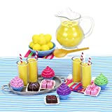 Sophia's Doll Complete Set of Doll Food Cupcakes, Petit Fours, Lemonade Pitcher, Lemons, Glasses of Lemonade and More   Sized for 18 Inch Dolls Miniature Food Play Sets and All American Dolls & More!