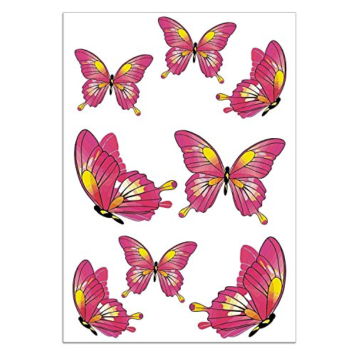 easydruck24de Schmetterling Aufkleber-Set I kfz_187 I Bogen DIN A4 groß I 8 Sticker wetterfest I für Notebook Laptop Fenster Fliesen Fahrrad Kfz