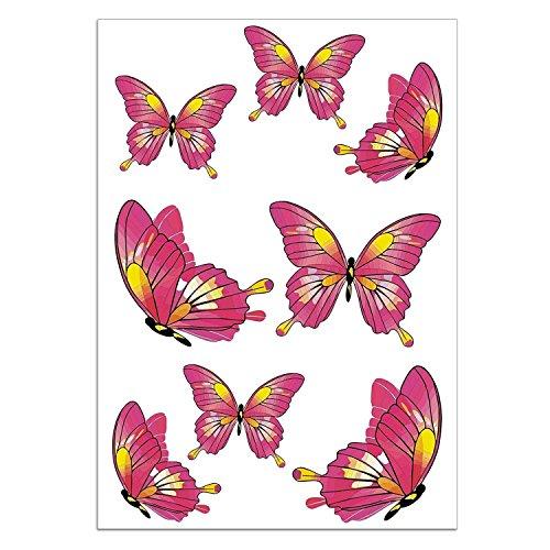 easydruck24de vlinderstickerset I kfz_187 I vel DIN A4 groot I 8 stickers weerbestendig I voor notebook laptop raam tegels fiets auto