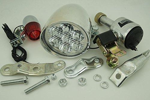 Shenzhen LangTao Bang International Trade Co., Ltd. Friction Generator Dynamo Headlight Tail Light Lamp Kit for Cycling Bicycle Motorized Bike