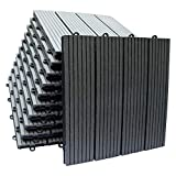 Top-Multi WPC Holz Fliese 30x30cm ANTHRAZIT 1m² (1m²=11 Fliesen)
