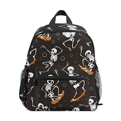 Skateboard Bone Kinder Rucksack Kinderrucksack Twill Weave Schultasche Perfekt für Schule oder Reisen