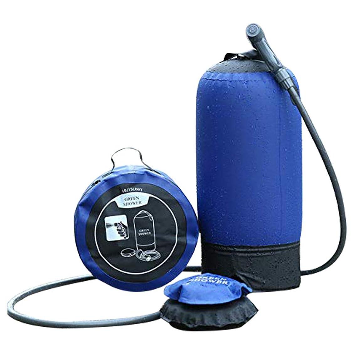 草探偵休暇ポータブルシャワー アウトドアシャワー 簡易手動式シャワー 持ち運び キャンプ 旅行 ペットシャワー 防災 洗車