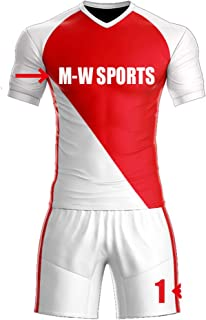 Custom red/White Sport Jerseys Set Full Sublimated Customize Team Soccer Uniform add Your Team Name and Numbers