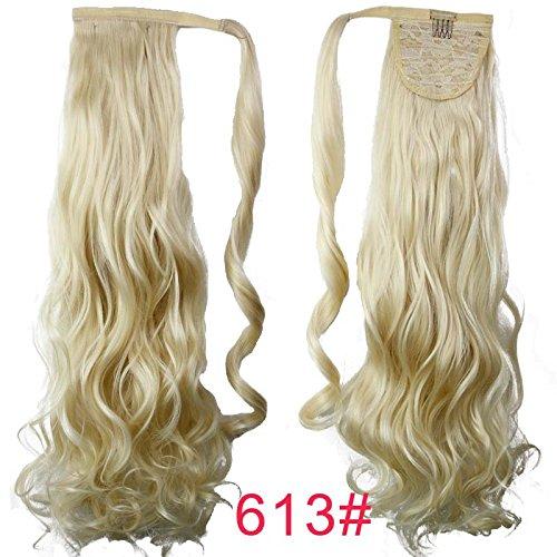 Perruque de cheveux de cheval magique nouveau mécanisme sans couture pour haute température câble bande Pony queue fille perruque cheveux queue de cheval, 613#