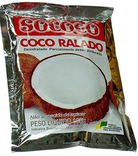 Gesüßte Kokosraspeln, Pack 100g. - Coco Ralado Adoçado COCO DO VALE 100g