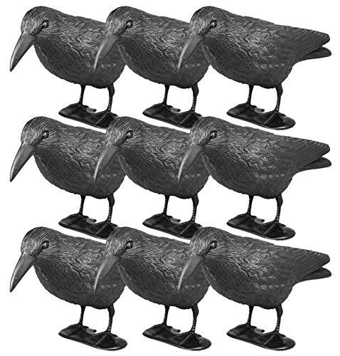 mgc24® Taubenschreck Rabe Lummy - Abwehr von Tauben, Möwen, Kleinvögeln - 9 Stück