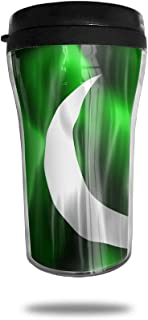 FTRGRAFE Pakistan Beautiful Flag Travel Coffee Mug 3D Printed Portable Vacuum Cup,Insulated Tea Cup Water Bottle Tumblers For Drinking With Lid 8.54 Oz (250 Ml)