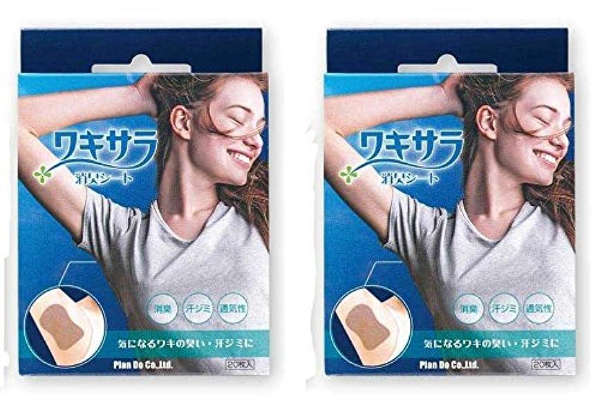 世界的に金曜日振りかけるワキサラ消臭シート 20枚入×2個セット(脇の汗染み防止脇臭消臭シート)