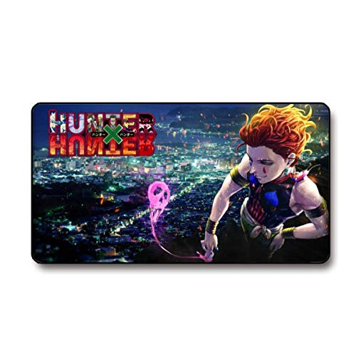 Hunter×Hunter Large Mouse Pad Anime Gaming Mouse Pads Delicate Stitched Edges Desk Mat Extended Mouse Pads Computer Non-Slip Waterproof Laptop Mat for Office Home 15.7x29.5 inch
