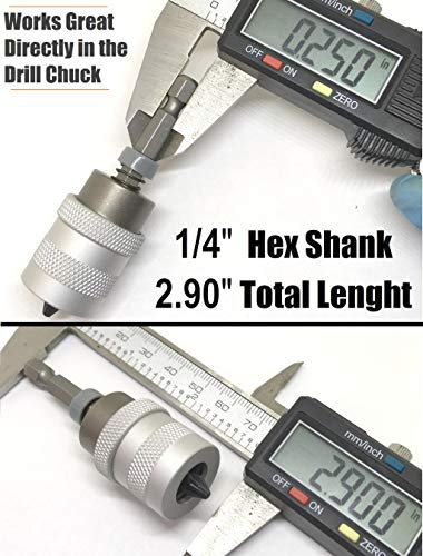 ELECTRIC DRILL to SCREWGUN CONVERTER Adjustable Clutch Drywall Tool Screw Depth Setter w/Manganese S2 Phillips 2 Screwdriver Bit | Countersink Plywood Deck PH2 Screws | 1/4 Shank Fits Corded Cordless