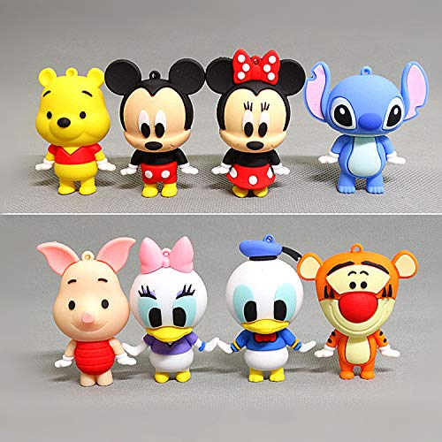 Mini Figures Set CYSJ 8 PCS Mickey Mickey Mickey Mouse Birthday Party Supplies Cupcake Figurines Party Cake Decoration Supplies Cake Topper