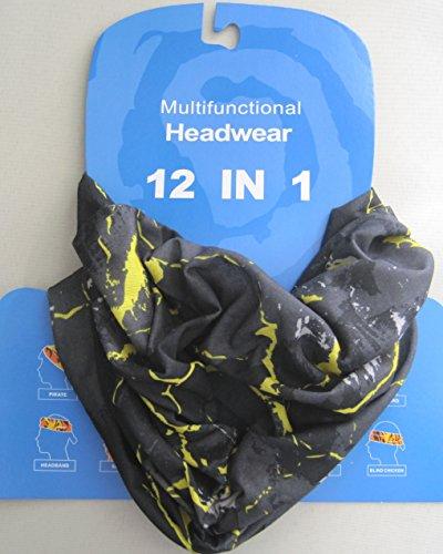 Multifunktions-Schlauchtuch, Grau und Gelb - 4