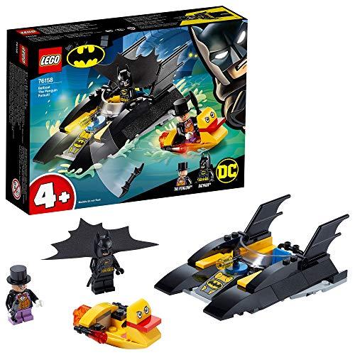 LEGO 76158 SuperHeroes CazadelPingüinoenlaBatlancha, Juguete de Construcción