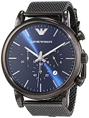 Emporio Armani Herren-Uhr AR1979, Schwarz zum Best Preis.