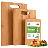 Set of 3 Boards For All Kitchen Needs: K Basix cutting boards are made of high quality and top-grade natural bamboo material. These boards come to you as 3 pcs set - a small board on a trip, a medium-sized one for small chopping tasks, and the large ...