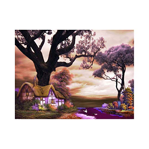 GYUGSD Pintura Al Óleo De Bricolaje por Números Regalos De Navideños para Adultos Y Niños Pigmentos Serie Paisaje 40X50Cm Sin Marco
