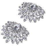 1 Par Clip de Zapatos Nupcial con Diamantes de Imitación Abalorios Decorativos para Boda Fiesta - #A